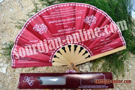 undangan kipas souvenir pernikahan
